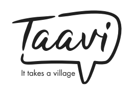 Taavi logo freelance writing client for feminism and parenting